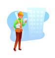 construction foreman flat character vector image