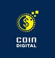 digital coin logo vector image