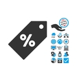 Discount Tag Flat Icon With Bonus vector image vector image