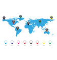 earth with pointer labels vector image vector image