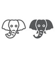 elephant line and glyph icon animal and zoo vector image vector image