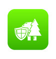 environment protection icon green vector image