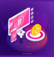 financial technology crypto currency composition vector image vector image