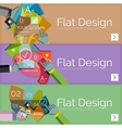 Flat design infographic banners with vector image vector image