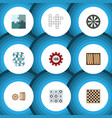 Flat icon games set of multiplayer arrow dice vector image