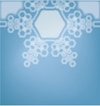 Frosted glass background with snowflakes vector image vector image
