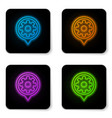 glowing neon setting icon isolated on white vector image vector image
