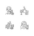 hair and body care linear icons set