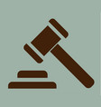 hammer of justice sign icon vector image vector image