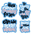 hand drawn quotes about vacation vector image vector image