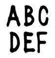 Hand written graffiti font type alphabet part 1 vector image vector image