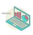 icons of optimization programming process and web vector image vector image