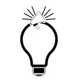 isolated lightbulb silhouette vector image vector image