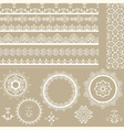 lacy vintage ribbons napkins and design elements vector image vector image