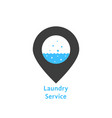 laundry service with simple pin vector image