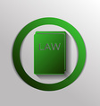 law book icon set of laws symbol of justice vector image vector image