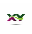 Letter X and Y monogram logo vector image