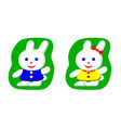 Little rabbit boy and rabbit girl vector image vector image