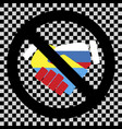 no ukraine and russia friendship sign vector image vector image