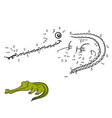 numbers game gavial vector image vector image