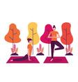people yoga activity vector image