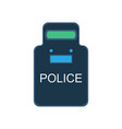 police swat shield icon guard uniform security vector image