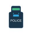 police swat shield icon guard uniform security vector image vector image