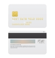 Realistic Credit cards isolated on white vector image