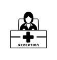 receptionist vector image vector image