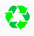 recycle triangle arrow outline icon eco waste and vector image vector image