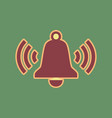 ringing bell icon cordovan icon and vector image vector image