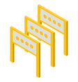 road barrier icon isometric style vector image vector image
