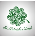 Saint Patrick Day background with clover vector image