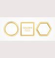 set gold metal realistic frames different vector image