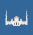 Sheikh Zayed Grand Mosque in Abu Dhabi flat sign vector image vector image