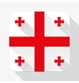 Simple flat icon Georgia flag vector image vector image