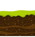 soil profile and horizons piece land vector image