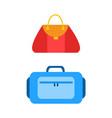 stylish handbag collection vector image vector image