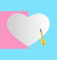 target is heart vector image vector image