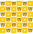 Tiger Star Yellow White Chess Board Background vector image
