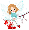 winter fairy vector image vector image