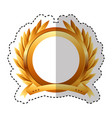 wreath leafs crown emblem vector image