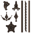 Wrought iron element set vector image