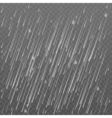 Rain transparent background Falling water drops vector image