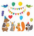 cute cartoon forest animals for vector image