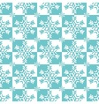 Blue and white snowflakes vector image