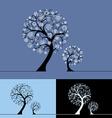 Snow trees vector image