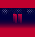 911 attack remembrance memorial day banner vector image vector image