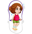 a girl skip rope vector image vector image
