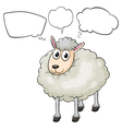 A lamb with empty callouts vector image vector image
